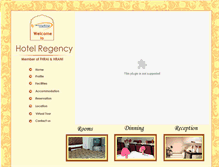 Tablet Preview of hotelregency.in